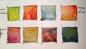 Watercolour mixes
