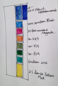 Muji colour swatches